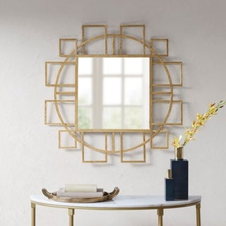 "Madison Park Kenzie Gold Mirror - 36""w x 36""d x1""h"