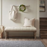 "Madison Park Pearl Natural Accent Bench - 50""w x 20""d x 19""h"