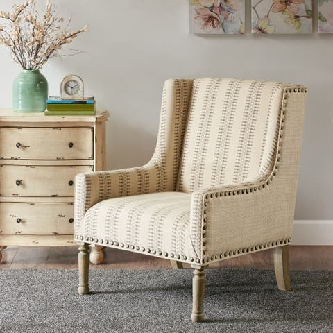 Madison Park Tita Tan Geometric Patterned Accent Chair