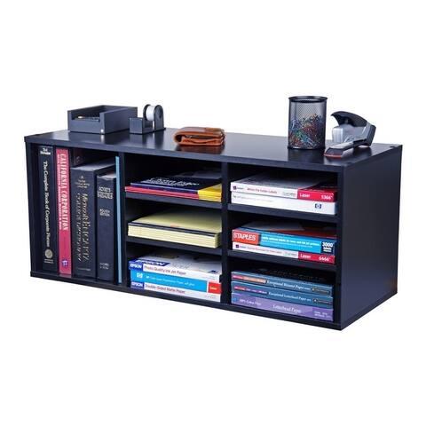 Venture Horizon 9 Compartment Adjustable Shelves Organizer - Black