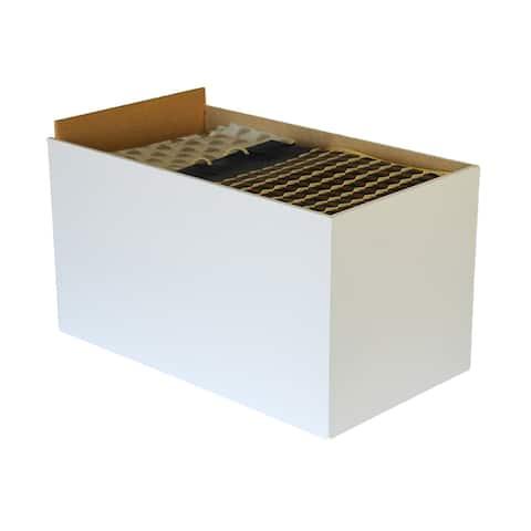 Venture Horizon Project Center Drawer, White - Set of 3