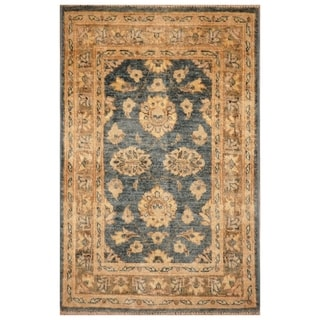 Handmade Vegetable Dye Oushak Wool Rug (Afghanistan) - 2'1 x 3'2