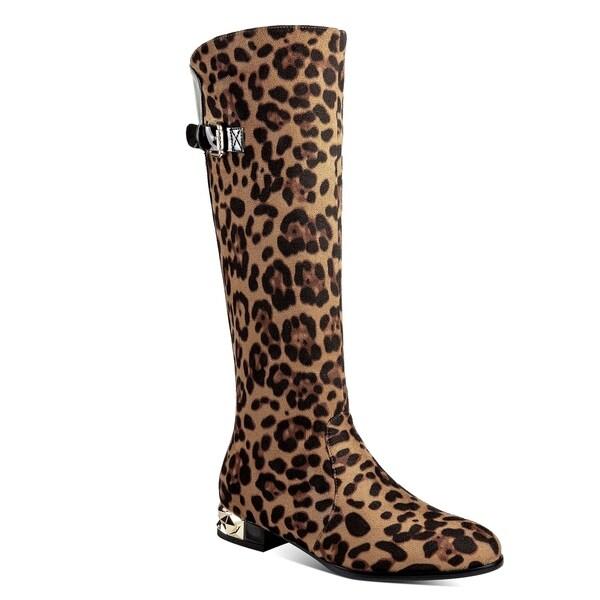b12bed7a1b3 Shop Ann Creek Women's 'Amur' Animal Print Goldtone Heels Boots - On ...