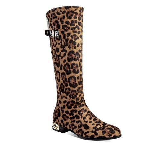 Ann Creek Women's 'Amur' Animal Print Goldtone Heels Boots
