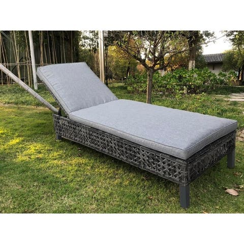 BroyerK Outdoor Chaise Lounge Chair Bed