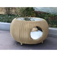 BroyerK Outdoor Coffee Table Cat Pet House