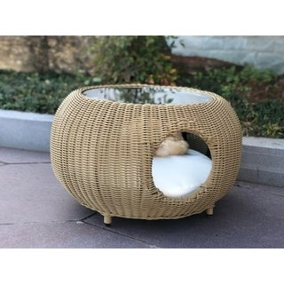 BroyerK Outdoor Coffee Table Cat Pet House