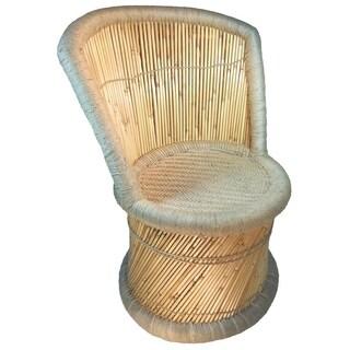 Natural Geo Moray Handmade Barrel Chair