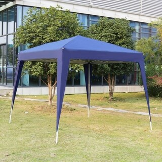 Kinbor 10' x 10' Outdoor Party Tent Pop Up Canopy Tent Instant Canopy w/ Carrying Bag