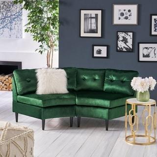 Jazmine Glam 2 Seater Modular Velvet Sectional by Christopher Knight Home