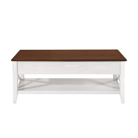 Decatur Farmhouse Faux Wood Lift Top Coffee Table by Christopher Knight Home