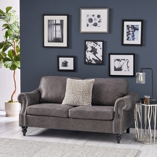 Erwin Traditional Microfiber Loveseat by Christopher Knight Home