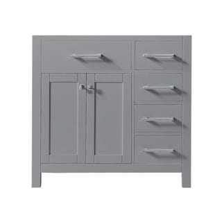 "Exclusive Heritage 36"" Single Sink Bathroom Vanity Base in Taupe Grey from the Colette Collection"