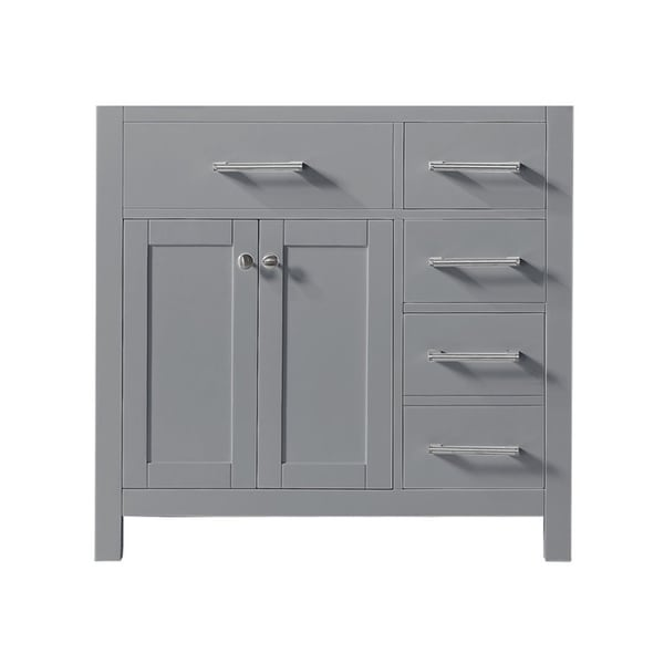 """Exclusive Heritage 36"""" Single Sink Bathroom Vanity Base in Taupe Grey from the Colette Collection"""