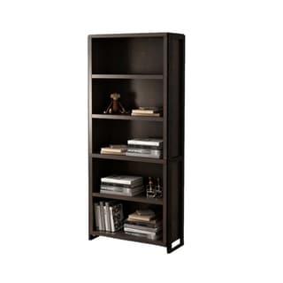 Offex Home Office Freestanding Wood Storage 5 Shelf Bookcase - Dark Chocolate