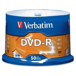 Verbatim AZO DVD-R 4.7GB 16X with Branded Surface - 50pk Spindle|https://ak1.ostkcdn.com/images/products/2629323/P10833430.jpg?impolicy=medium