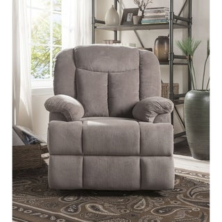 ACME Ixia Recliner with Power Lift and Massage in Light Brown Fabric
