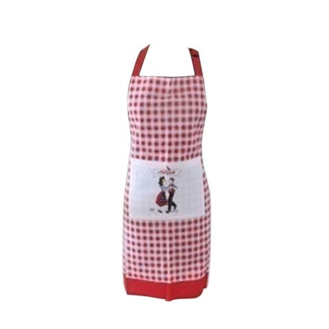 Angel Cotton Kitchen Woman Chef Apron with Dancing Couple Design