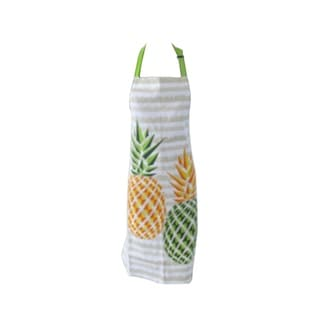 Angel Cotton Kitchen Woman Chef Apron with Pineapple Yellow Design