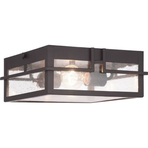 Boxwood Collection One-Light Outdoor Flush Mount