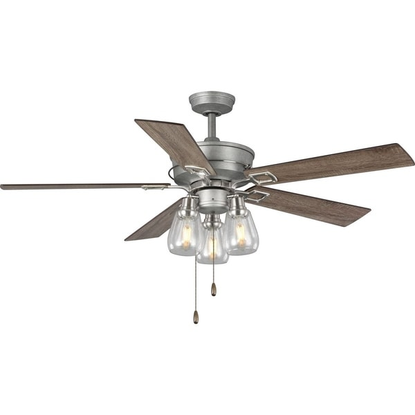 Teasley 56 Five Blade Ceiling Fan With Gl Shades Free Shipping Today 26295799