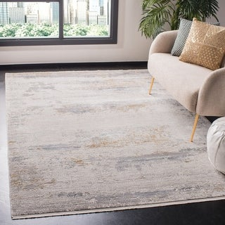 Safavieh Eclipse Migdalia Vintage Boho Abstract Viscose Rug with Fringe
