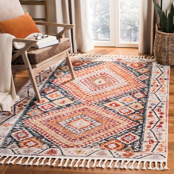 Shop Safavieh Farmhouse Bohemian Amp Eclectic Ivory Navy
