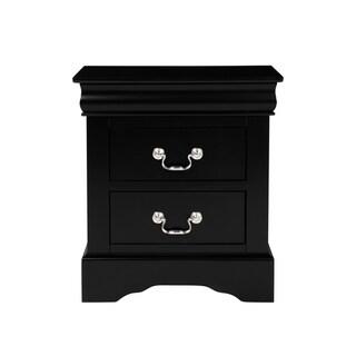 Standard Furniture Lewiston Nightstand, Black