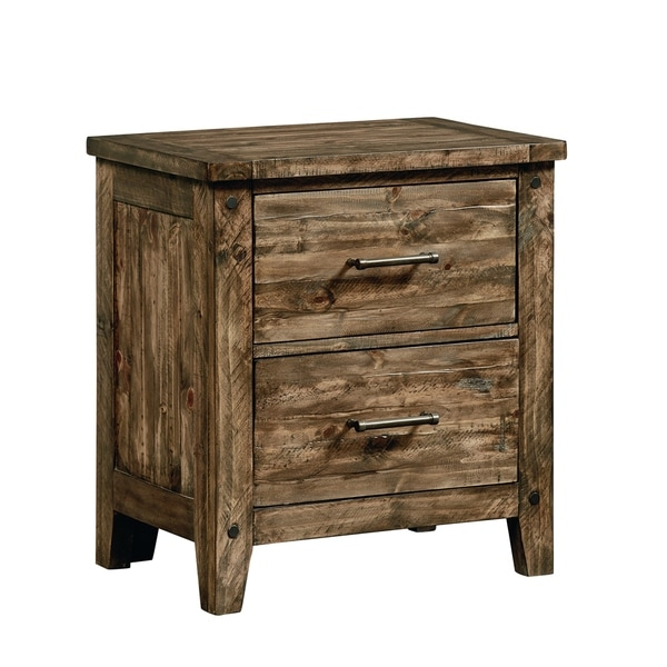 Standard Furniture Nelson 2-Drawer Nightstand, Rustic Pine