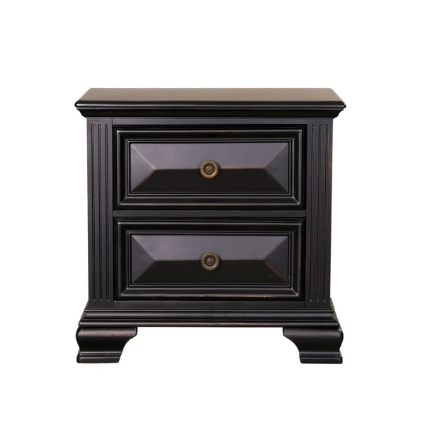 Standard Furniture Passages 2-Drawer Nightstand, Vintage Black