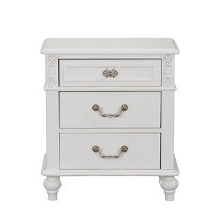 Standard Furniture Olivia 3-Drawer Nightstand, White