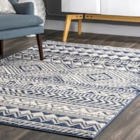 The Curated Nomad Kahlo Contemporary Boho Aztec Tribal Area Rug
