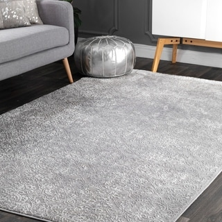 The Gray Barn Judy Alley Damask Faded Area Rug