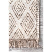 The Curated Nomad Frida Casual Gemometric Indoor/ Outdoor Tribal Striped Tassels Area Rug