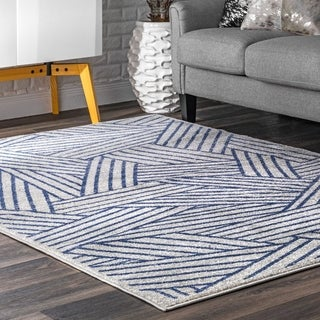 Porch & Den Maujer Faded Abstract Layered Stripes Area Rug