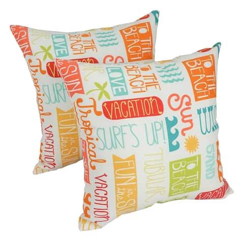 Solarium Summer Fun 17-inch Indoor/Outdoor Throw Pillows (Set of 2)