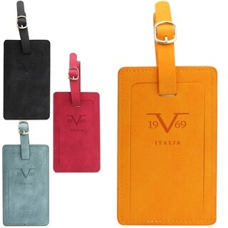 V19.69 Italia Luggage Tag Pair with Hidden Information Cards