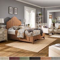 Ediline Antique-finish Scalloped Panel Bed by iNSPIRE Q Classic