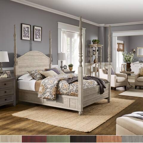 Copper Grove Aanekoski Antique 4-post Panel Bed