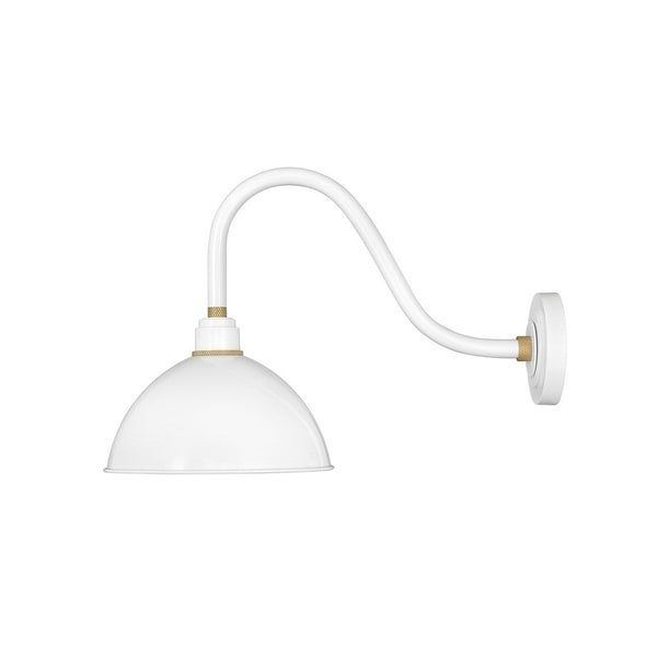 Hinkley Foundry 1-Light Outdoor Wall Mount Lantern in Gloss White. Opens flyout.