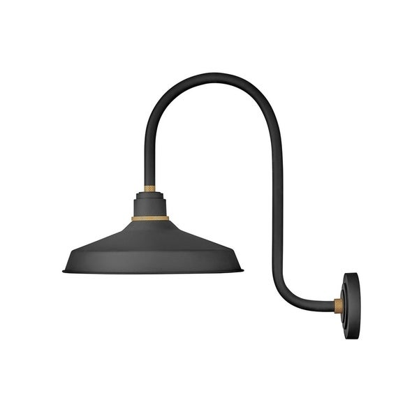 Hinkley Foundry 1-Light Outdoor Wall Mount Lantern in Textured Black. Opens flyout.