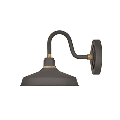 Hinkley Foundry 1-Light Outdoor Wall Mount Lantern in Museum Bronze