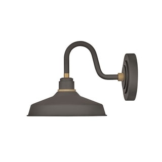 Link to Hinkley Foundry 1-Light Outdoor Wall Mount Lantern in Museum Bronze Similar Items in Pier Mount Lights