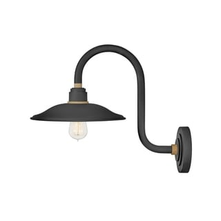 Link to Hinkley Foundry 1-Light Outdoor Wall Mount Lantern in Textured Black Similar Items in Outdoor Wall Lights