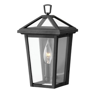 Hinkley Alford place 1-Light Outdoor Wall Mount Lantern in Museum Black