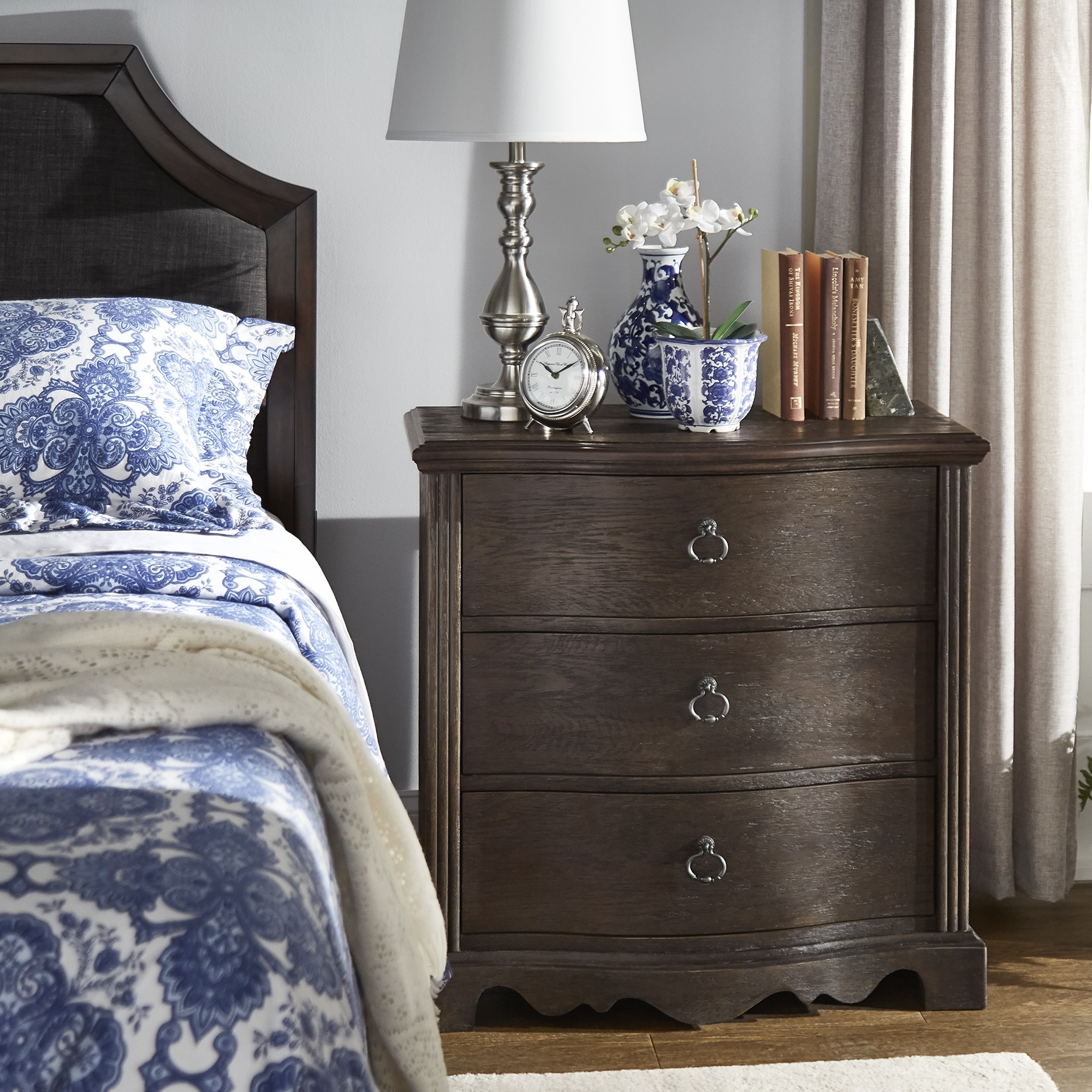 info for 6d8fc a54be Rola Dark Brown Finish Nightstand by iNSPIRE Q Classic