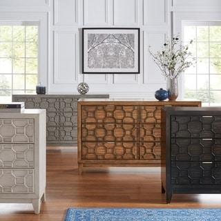 Carson Carrington Falhult Rubberwood Honeycomb Textured Dresser