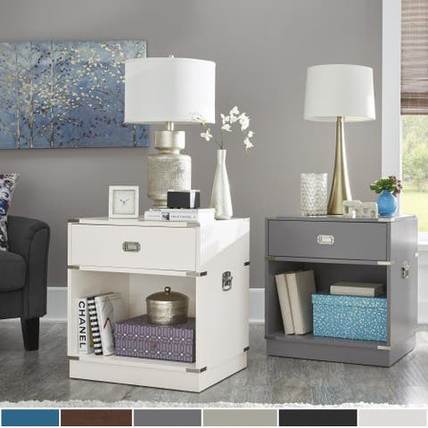 Jacobsen 1-drawer Open Shelf Nightstand by iNSPIRE Q Modern