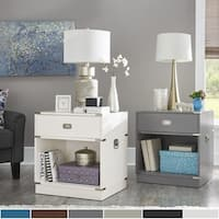 Jacobsen 1-drawer Open Shelf Nightstand by iNSPIRE Q Modern