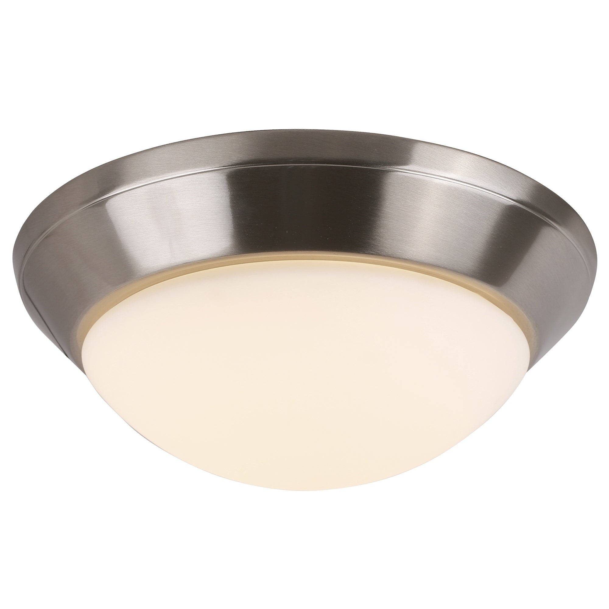 online store ed070 e0952 LED Flush Mount Ceiling light in Brushed Nickel